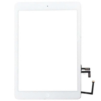 Touch Screen BIANCO per iPad Air completo di biadesivo e tasto Home