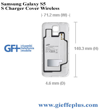 EP-CG900IBEGWW Cover S Charger Wireless Bianco Samsung S5 SM-G900